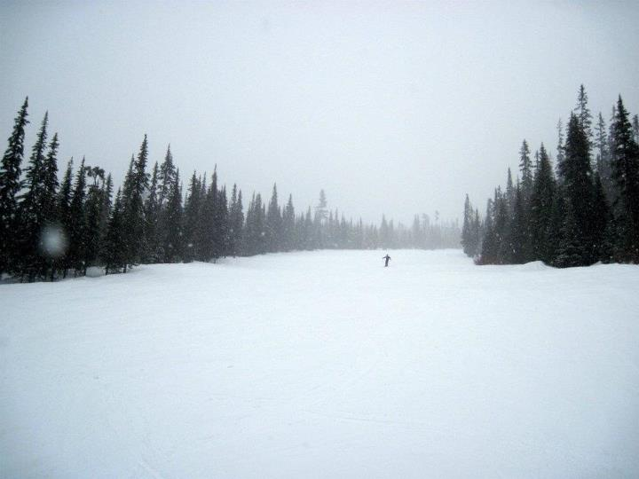 Empty slopes at Sun Peaks Resort